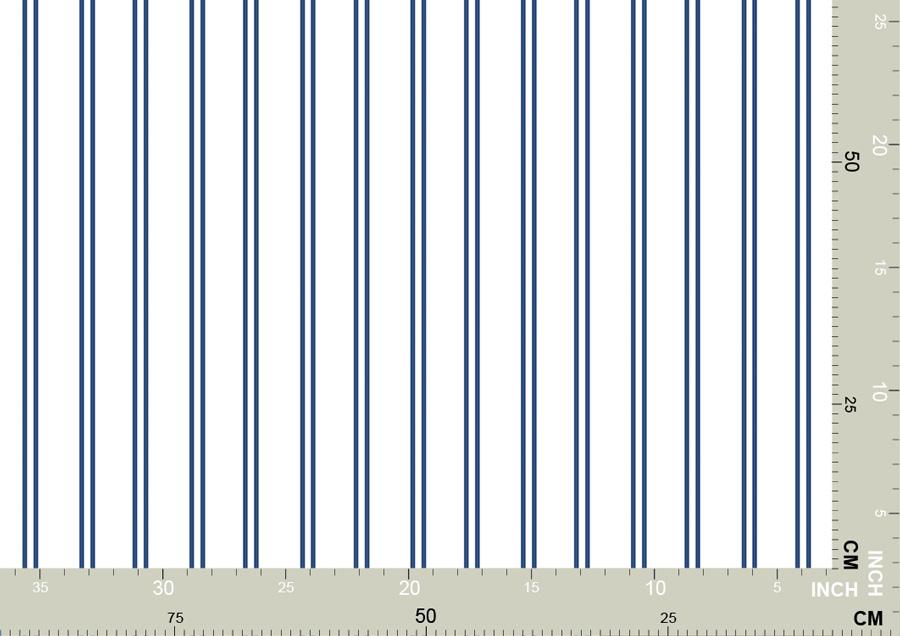 Feine blau weiße Streifen Tapete 3