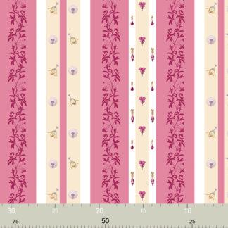 Rosa florale Streifen