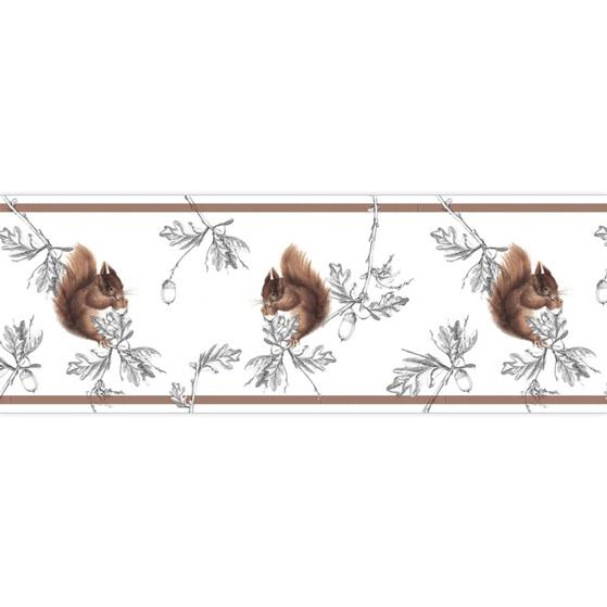 Edle Eichhörnchen schmücken diese Tapetenborte 2