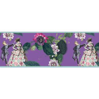 Edle italienische Tapeten Borte: Comedia del Arte