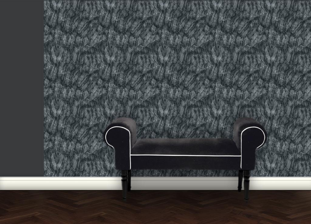 Dezent klassische Marmor Tapete – grau grün 2