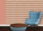 Multicolor Swing Querstreifentapete passend zu Ikea Trendfarben