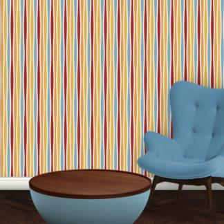 Moderne Swing Streifentapete passend zu Ikea Trendfarben