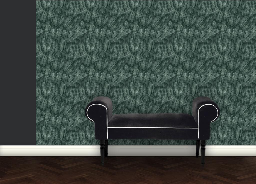 Klassische Marmor Tapete   Grün 2
