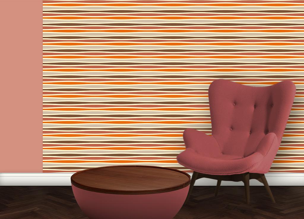 Swing Streifentapete quer, passend zu Schöner Wohnen Trendfarben 2