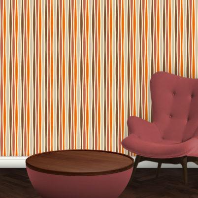 Individuelle Swing Streifentapete passend zu Schöner Wohnen Trendfarben
