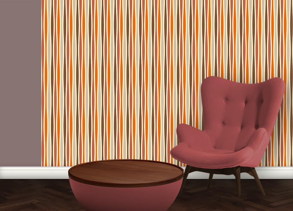 Individuelle Swing Streifentapete passend zu Schöner Wohnen Trendfarben 2