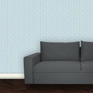 Trend Little Square Tapete hell blau angepasst an Schöner Wohnen Trendfarbe Sky