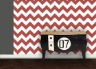 Designer Zick Zack angepasst an Farrow and Ball Blazer 212