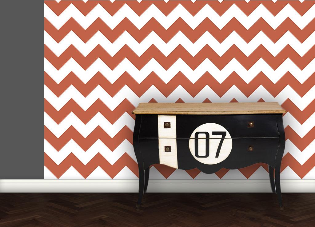Living - Zack Tapete angepasst an Schöner Wohnen Trendfarbe Cotto