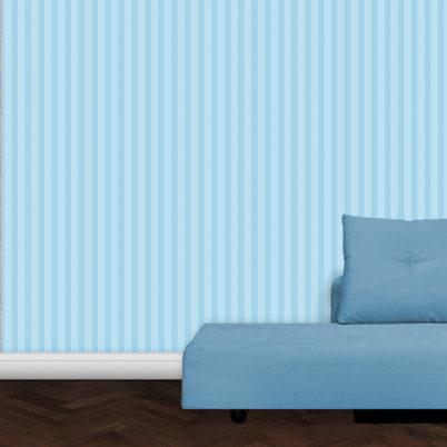 Hellblaue, klassische Streifen Tapete