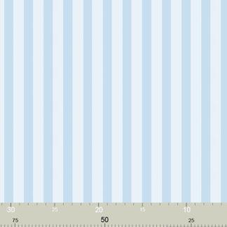 Schöne hellblaue Streifentapete
