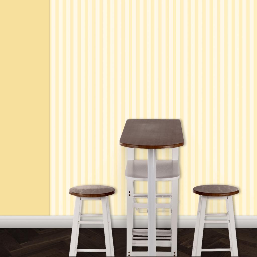 Schöne schlichte gelbe Streifentapete