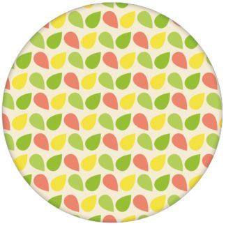 """Fröhliche klein gemusterte Tropfen Tapete """"Funny Drops"""" in grün Vliestapete für Küche Arbeitszimmer aus den Tapeten Neuheiten Exklusive Tapete für schönes Wohnen als Naturaltouch Luxus Vliestapete oder Basic Vliestapete"""