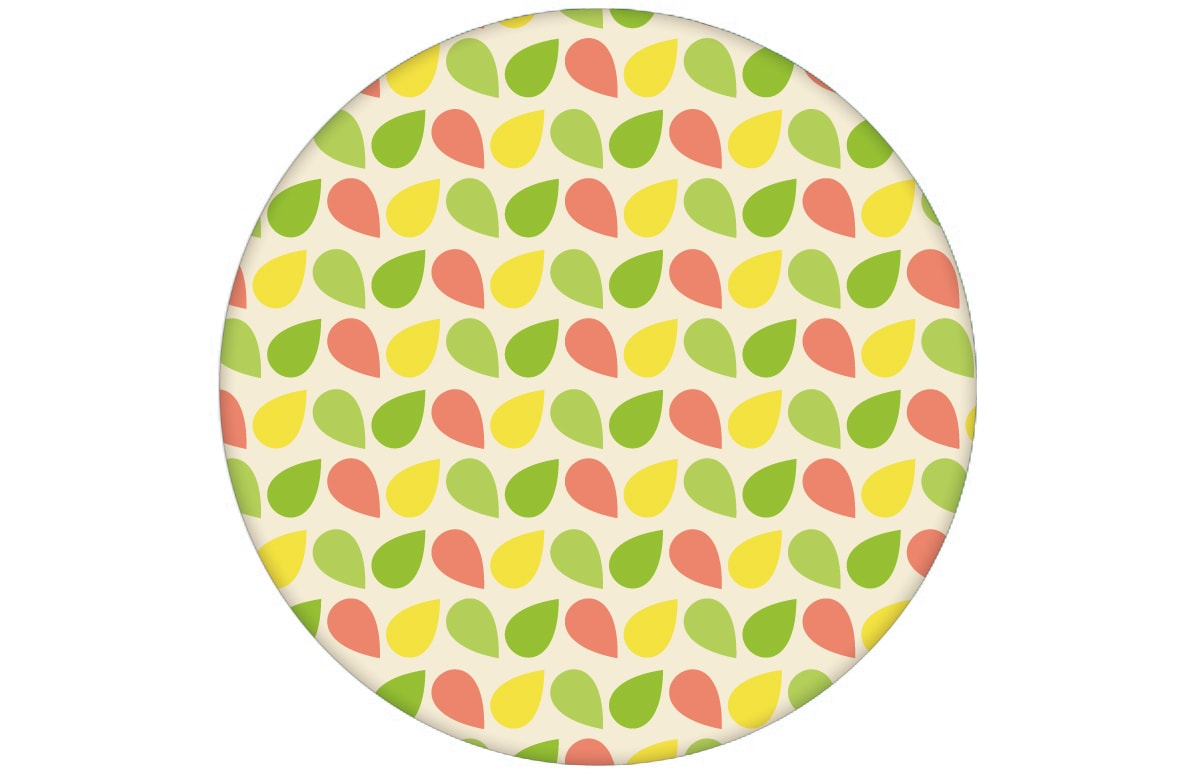 "Fröhliche kleingemusterte Tropfen Tapete ""Funny Drops"" in grün angepasst an Farrow and Ball Wandfarben- Vliestapete Grafische"