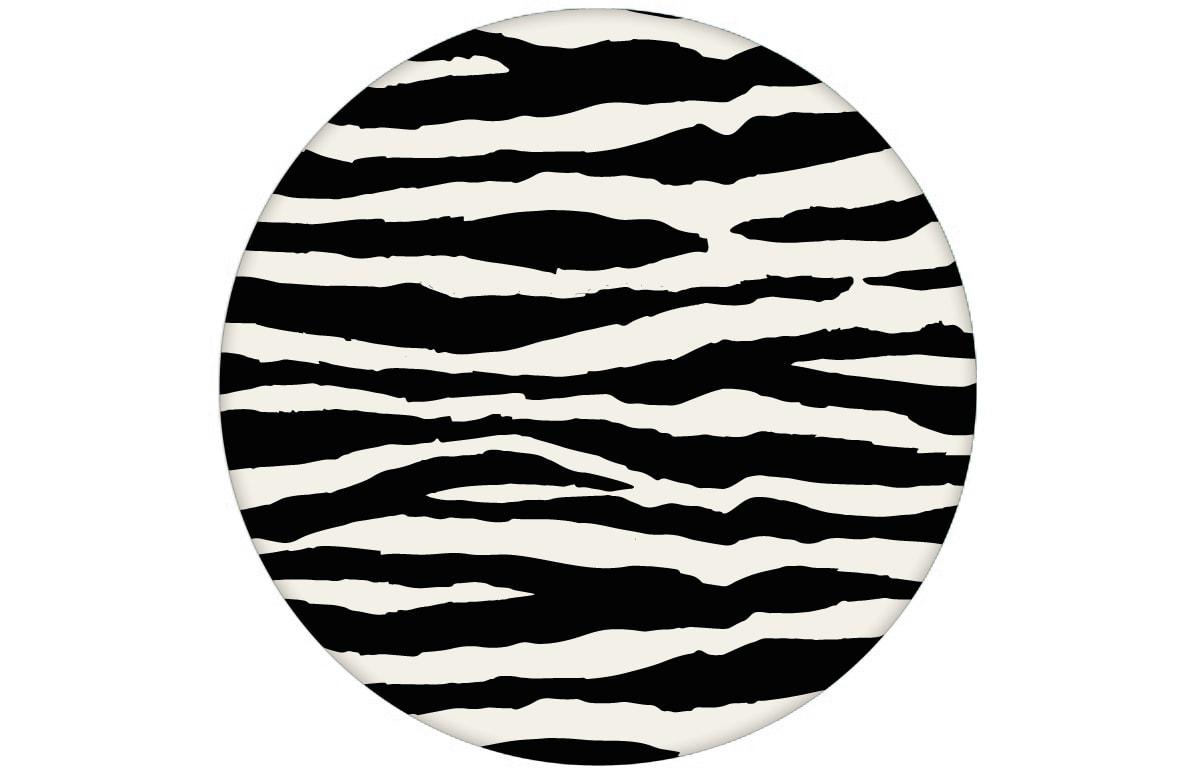 Gestreifte, Afrika Zebra Tapete im Fell Look angepasst an Farrow and Ball Wandfarben - Vliestapete Tiere