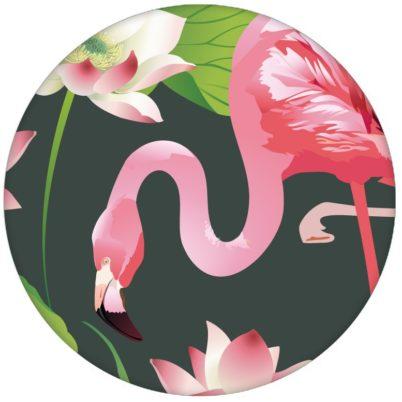 """Extravagante, exotische Tapete """"Flamingo Pool"""" mit Seerosen auf grün Design Vliestapete Tiere, Blumen aus den Tapeten Neuheiten Blumentapeten und Borten als Naturaltouch Luxus Vliestapete oder Basic Vliestapete"""