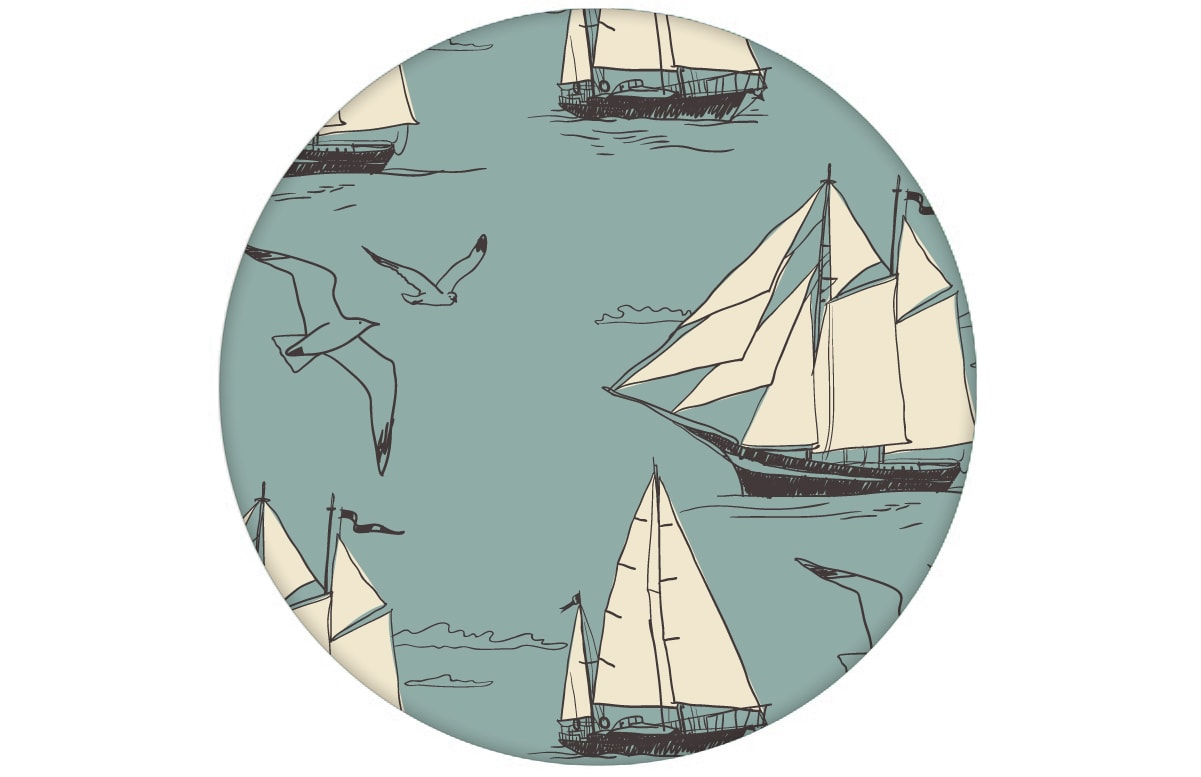 Maritime Segel Design Tapete