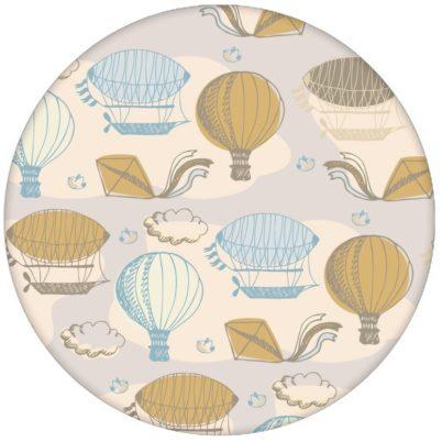 """Traumhafte Design Tapete """"Luftschlösser"""" mit Drachen, Heißluftballons und Wolken in hellblau Vliestapete Wohnzimmeraus dem GMM-BERLIN.com Sortiment: beige Tapete zur Raumgestaltung: #Drachen #LittleGreene für individuelles Interiordesign"""