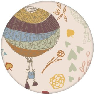 """Luftige, nostalgische Tapete """"Im Traumland"""" mit Heißluftballons in beige lila Vliestapete für Wohnzimmer"""