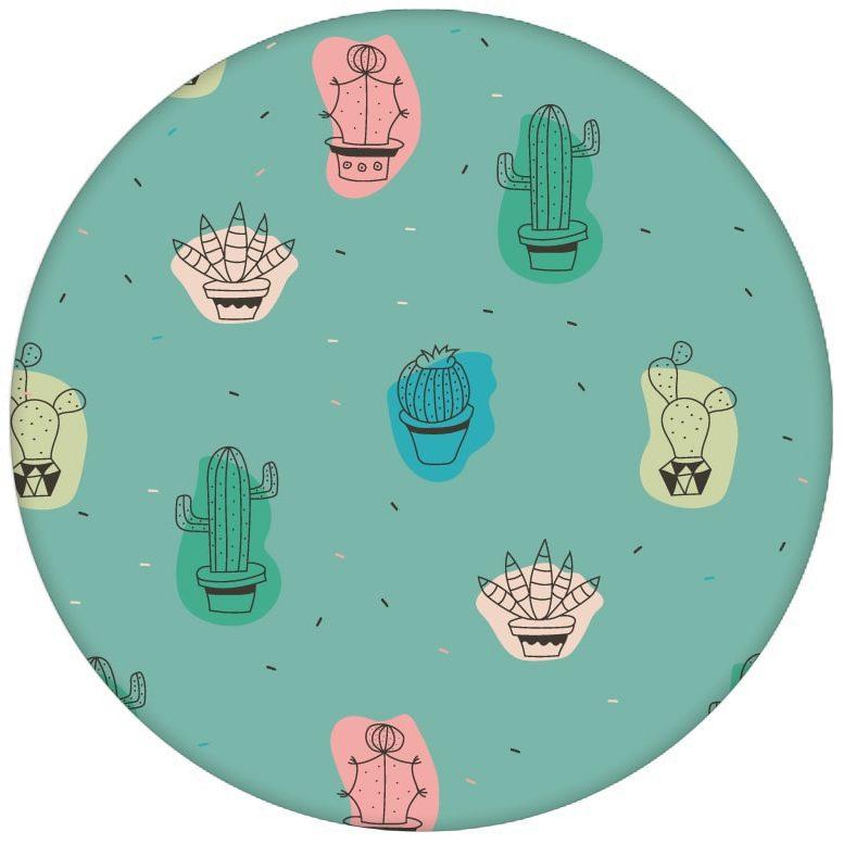"""Lustige Design Tapete """"Wüstenzauber"""" mit bunten Kakteen auf türkis Vliestapete Kaktus - Moderne Wandgestaltung aus den Tapeten Neuheiten Blumentapeten und Borten als Naturaltouch Luxus Vliestapete oder Basic Vliestapete"""