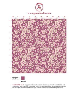 """Zauberhafte florale Tapete """"Spring in Japan"""" mit Kirsch Blüten auf rosa angepasst an Little Greene Wandfarben- Vliestapete Blumen"""