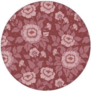 """Edle florale Tapete """"Mein Rosengarten"""" mit Rosen Blüten in rot für Schlafzimmeraus dem GMM-BERLIN.com Sortiment: rote Tapete zur Raumgestaltung: #Ambiente #blueten #blumen #FarrowandBall #interior #interiordesign #Klassiker #Nobel #Nostalgie #rosen #Stil #üppig für individuelles Interiordesign"""