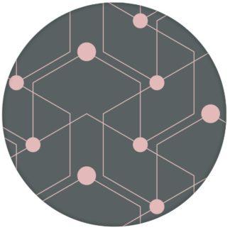 "Schicke moderne Design Tapete ""Celestial Dots"" großes Muster in grau rosa Vliestapete grafische Wandgestaltungaus dem GMM-BERLIN.com Sortiment: rosa Tapete zur Raumgestaltung: #FarrowandBall #Grafik #grau #Linien #Nancy Blushes #punkte #rosa #tapete für individuelles Interiordesign"