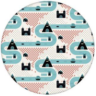 """Moderne Trend Design Tapete """"Weltenbummler"""" mit Strassen, Burgen und Pyramiden Vliestapete Kinder Büro Schlafzimmer aus den Tapeten Neuheiten Exklusive Tapete für schönes Wohnen als Naturaltouch Luxus Vliestapete oder Basic Vliestapete"""
