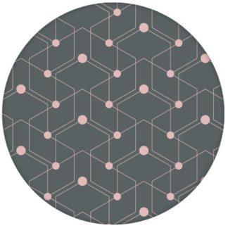 """Schicke moderne Tapete """"Celestial Dots"""" kleines Muster in grau rosa Vliestapete grafische Wandgestaltungaus dem GMM-BERLIN.com Sortiment: rosa Tapete zur Raumgestaltung: #Firefly #Grafik #grau #Linien #Little Greene #punkte #rosa #tapete für individuelles Interiordesign"""