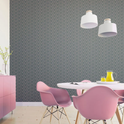 """Schicke moderne grafische Tapete """"Celestial Dots"""" kleines Muster in grau rosa angepasst an Farrow & Ball Wandfarben - Vliestapete Grafisch"""