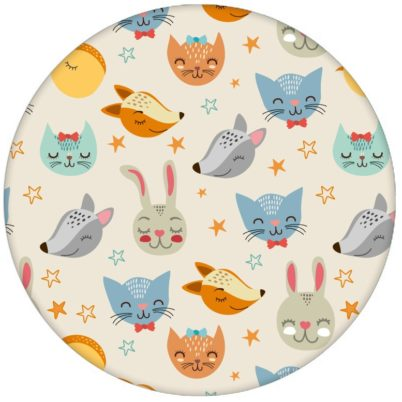 """""""Space Animals"""" - Coole Kindertapete mit Katzen, Hasen, Hunden und Sternen Vliestapete Jugendzimmeraus dem GMM-BERLIN.com Sortiment: beige Tapete zur Raumgestaltung: #FarrowandBall #katze #Sterne #tapete #tiere #weiss für individuelles Interiordesign"""