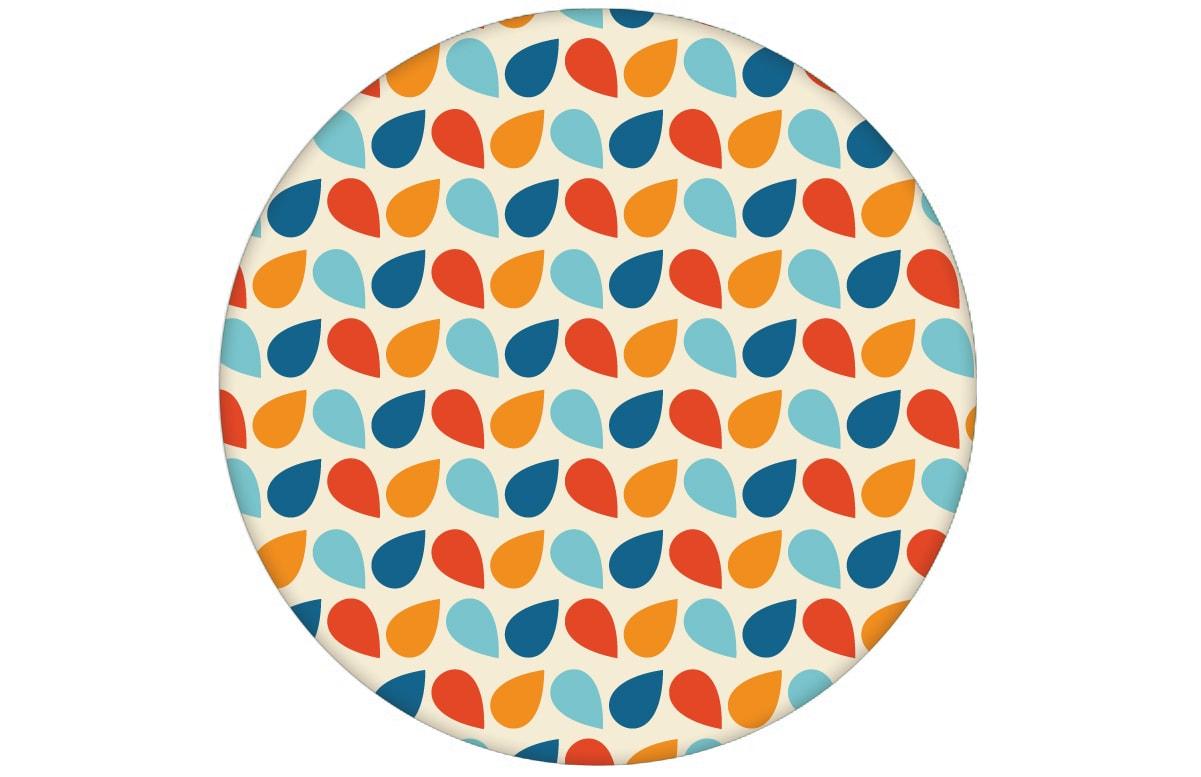"blaue kleingemusterte Tropfen Tapete ""Funny Drops"" angepasst an Farrow and Ball Wandfarben- Vliestapete Grafische"