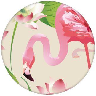 """Exotische Design Tapete """"Flamingo Pool"""" mit Seerosen im extravaganten Look auf weiß Vliestapete Tiere, Blumen"""