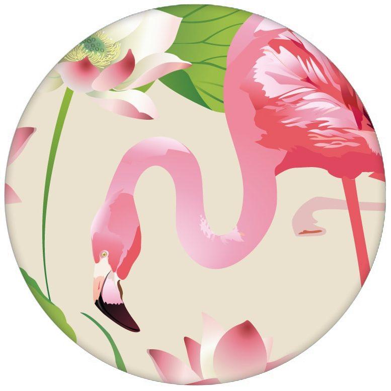 """Exotische Design Tapete """"Flamingo Pool"""" mit Seerosen im extravaganten Look auf weiß Vliestapete Tiere, Blumenaus dem GMM-BERLIN.com Sortiment: beige Tapete zur Raumgestaltung: #afrika #Blume #exotisch #FarrowandBall #Flamingo #Reise #See #Seerose #Trend #voegel #Vogel #Wasser #wild #wildlife für individuelles Interiordesign"""