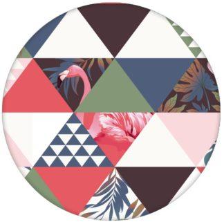 """Moderne, exotische Design Tapete """"Flamingo Puzzle"""" mit grafischen Dreiecken in grün Vliestapete grafischaus dem GMM-BERLIN.com Sortiment: braune Tapete zur Raumgestaltung: #afrika #Dreieck #exotisch #FarrowandBall #Flamingo #grafisch #modern #Reise #Trend #voegel #Vogel #wild #wildlife für individuelles Interiordesign"""
