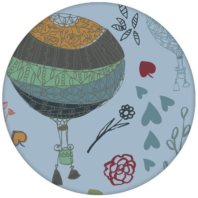 """Nostalgische Design Tapete """"Im Traumland"""" mit Heißluftballons in hellblau Vliestapete für Schlafzimmer"""