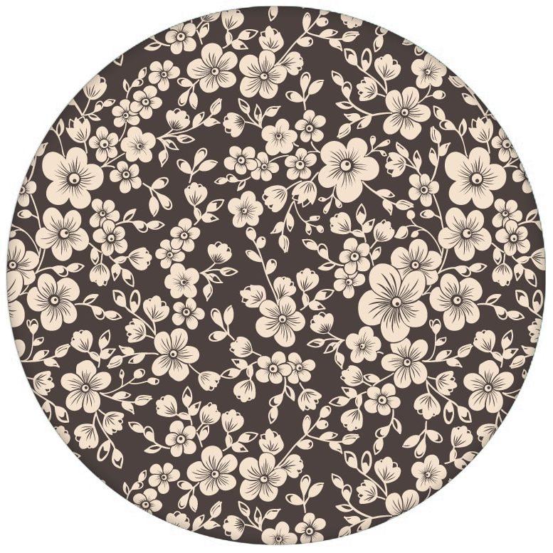 """""""Spring in Japan"""" – Zauberhafte florale Tapete mit Kirsch Blüten auf braun Vliestapete Blumenaus dem GMM-BERLIN.com Sortiment: braune Tapete zur Raumgestaltung: #Ambiente #Asien #blueten #blumen #interior #interiordesign #Japan #Kirschblüte #LittleGreene #Stil für individuelles Interiordesign"""