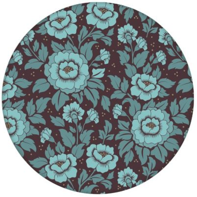 """Florale Tapete """"Mein Rosengarten"""" mit edlen Rosen Blüten in blau für Schlafzimmer"""