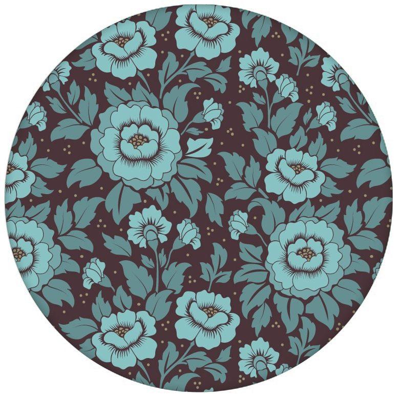 """Florale Tapete """"Mein Rosengarten"""" mit edlen Rosen Blüten in blau für Schlafzimmer aus den Tapeten Neuheiten Blumentapeten und Borten als Naturaltouch Luxus Vliestapete oder Basic Vliestapete"""