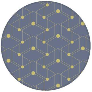 """Moderne Design Tapete """"Celestial Dots"""" kleines Muster in lila grün Vliestapete grafische Wandgestaltungaus dem GMM-BERLIN.com Sortiment: blaue Tapete zur Raumgestaltung: #blau #Firefly #Grafik #gruen #Linien #Little Greene #punkte #tapete für individuelles Interiordesign"""