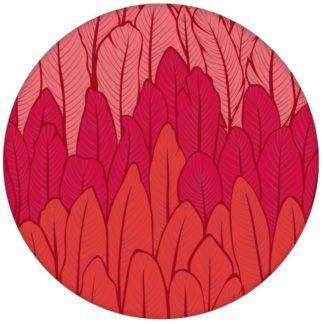 Elegante Streifentapete mit Federn in rot Tönen Vlies Tapete Streifen