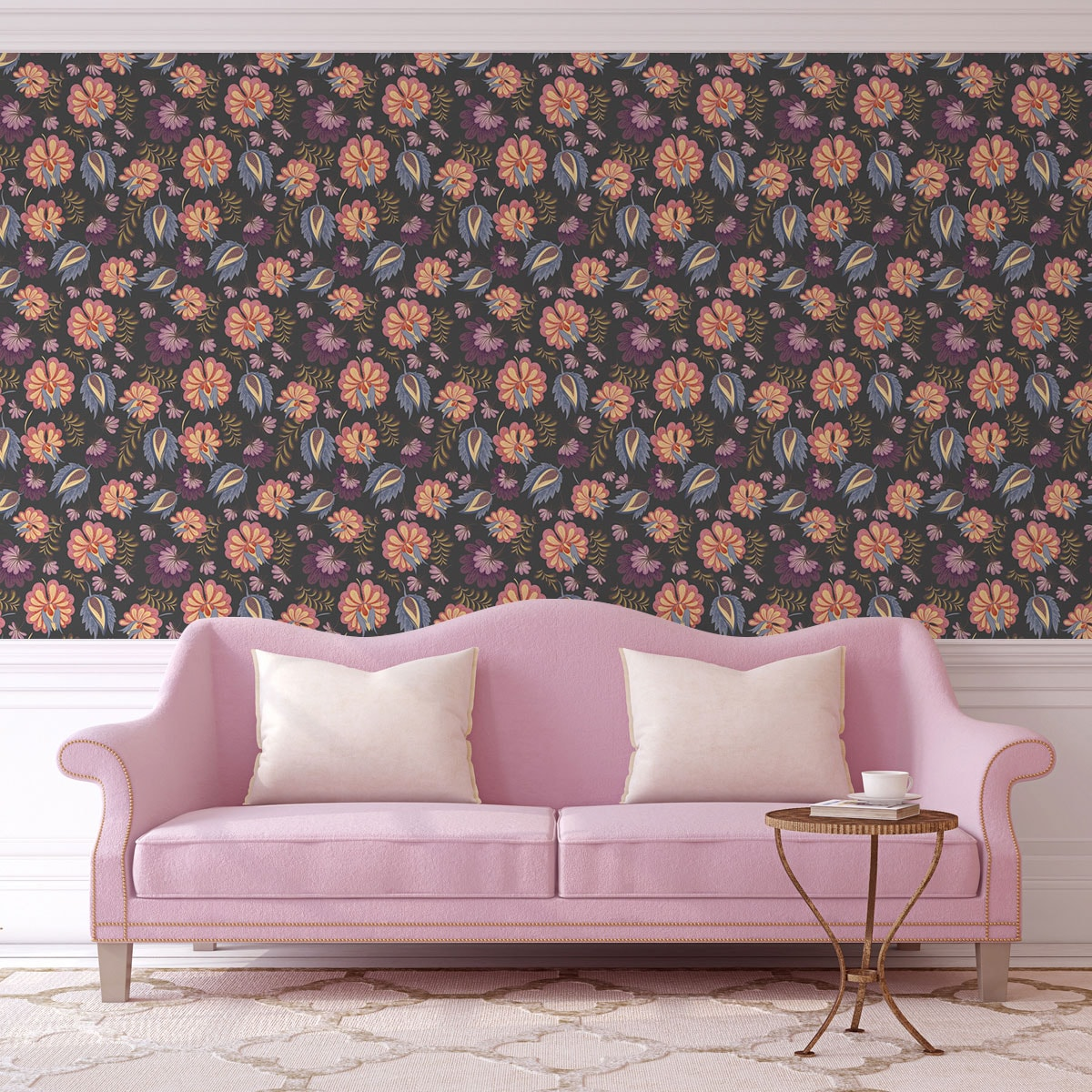 tapeten schlafzimmer blumen xxxl lutz schlafsofas beleuchtung f r kleiderschr nke schlafzimmer. Black Bedroom Furniture Sets. Home Design Ideas