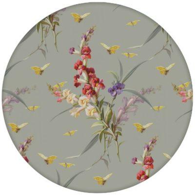 """Vintage Blüten Tapete """"Blissful Spring"""" mit Schmetterlingen auf grau Vliestapete Blumen für Schlafzimmer aus den Tapeten Neuheiten Blumentapeten und Borten als Naturaltouch Luxus Vliestapete oder Basic Vliestapete"""