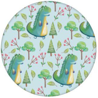 Kinderzimmer Tapete mit kleinen Drachen im Zauberwald auf hellblau Jungen Vliestapete