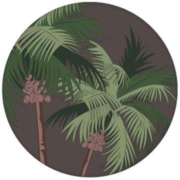 """Üppige Strand Tapete """"im Palmenhain"""" mit großen Palmen auf braun Vliestapete für Wohnzimmer"""