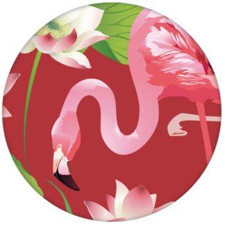"""Extravagante, exotische Tapete """"Flamingo Pool"""" mit Seerosen auf rot Vliestapete Wandgestaltung Tiere, Blumen aus den Tapeten Neuheiten Blumentapeten und Borten als Naturaltouch Luxus Vliestapete oder Basic Vliestapete"""