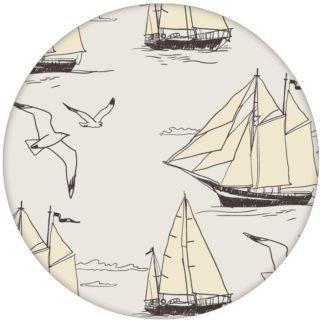 """Maritime Segler Tapete """"Die Regatta"""" mit Segelbooten und Möwen Vliestapete Wandgestaltung"""