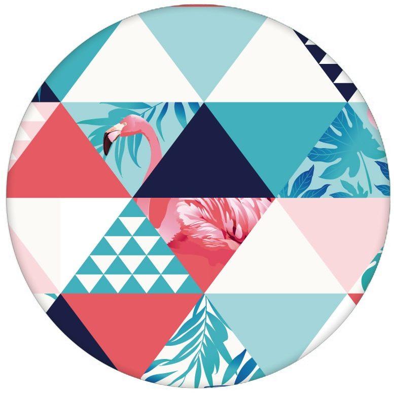 """Exotische moderne Tapete """"Flamingo Puzzle"""" mit grafischen Dreiecken in blau Vliestapete Designaus dem GMM-BERLIN.com Sortiment: rosa Tapete zur Raumgestaltung: #afrika #Dreieck #exotisch #FarrowandBall #Flamingo #grafisch #modern #Reise #Trend #voegel #Vogel #wild #wildlife für individuelles Interiordesign"""