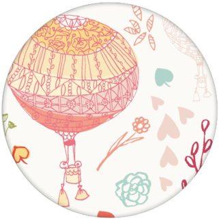 """Schöne, NostalgieTapete """"Im Traumland"""" mit Heißluftballons in türkis rosa Vliestapete für Schlafzimmer"""